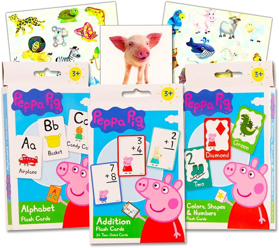 Direct sale of manufacturer Peppa Pig Flash Cards Set All items in the store Pack 3 with Sticker