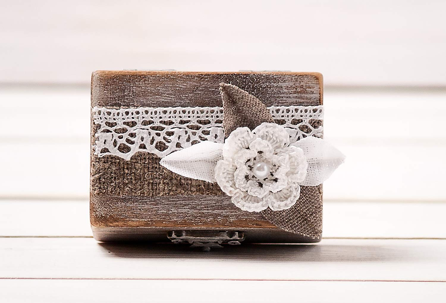 Jacksonville Mall Small Engagement Ring Box Some reservation Simple Bearer Wooden Pillow Per
