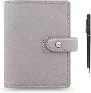 $84 » Sponsored Ad - Filofax Malden Leather Organizer Agenda Calendar Bundle with DiLoro Ballpoint Pen (Stone 2021 with Pen, Poc...