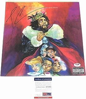 J Cole Autographed Signed KOD LP Vinyl PSA/DNA Album Autographed Signed