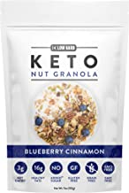 Low Karb - Keto Blueberry Nut Granola Healthy Breakfast Cereal - Low Carb Snacks & Food - 3g Net Carbs - Almonds, Pecans, ...