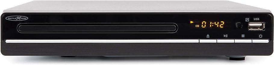 Reflexion DVD Player / CD-Player mit HDMI, USB und SCART, LCD-Display, Fernbedienung, schwarz