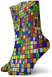 yting, Niños Niñas Locos Divertidos Rubiks Cubo Calcetines del mundo Calcetines lindos del vestido de la novedad