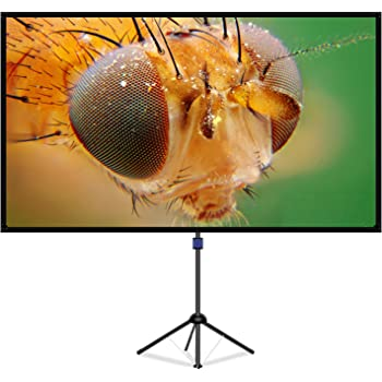 LiBatterスクリーン 4K対応 改良新版 ガラス繊維材料を採用 プロジェクタースクリーン 三脚式 屋内屋外兼用 16:9 視野角160°90インチ三脚式 スクリーン 防しわ加工 お手入れ簡単「90インチ」
