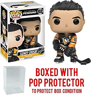 POP! Sports NHL Pittsburgh Penguins, Sydney Crosby (Home Jersey) #02 Action Figure (Bundled with Pop Box Protector to Protect Display Box)