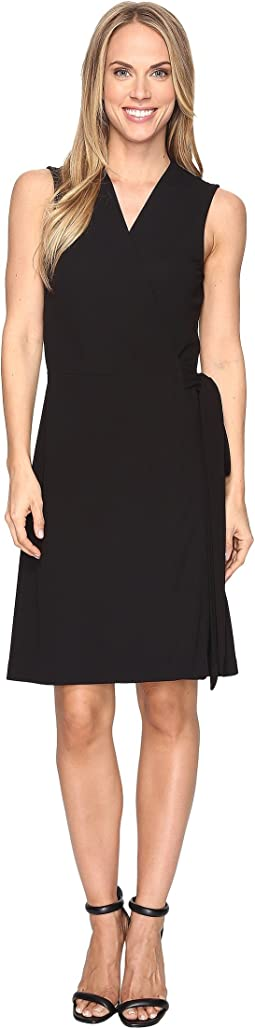 Vince Camuto Sleeveless Belted Wrap Dress