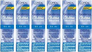 L'Oreal Excellence Creme 8X Medium Blonde Grays Resistant HC-06235 (6 Pack)