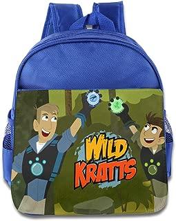 Classic Wild Kratts School Bag Backpack Bag For Girls, Boys, Kids, Students-RoyalBlue