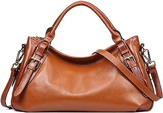 Kattee Women's Soft Genuine Leather Crossbody Bags Ladies Designer Purses Medium Size Hobo Handbags Top Handle