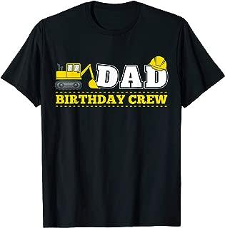Mens Dad Birthday Crew Construction Birthday Party Theme T Shirt