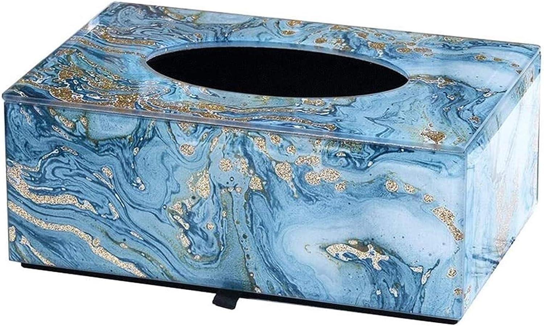 Lowest price challenge Fashion Tissue Box Luxurious Cover Washington Mall Glass Rectan
