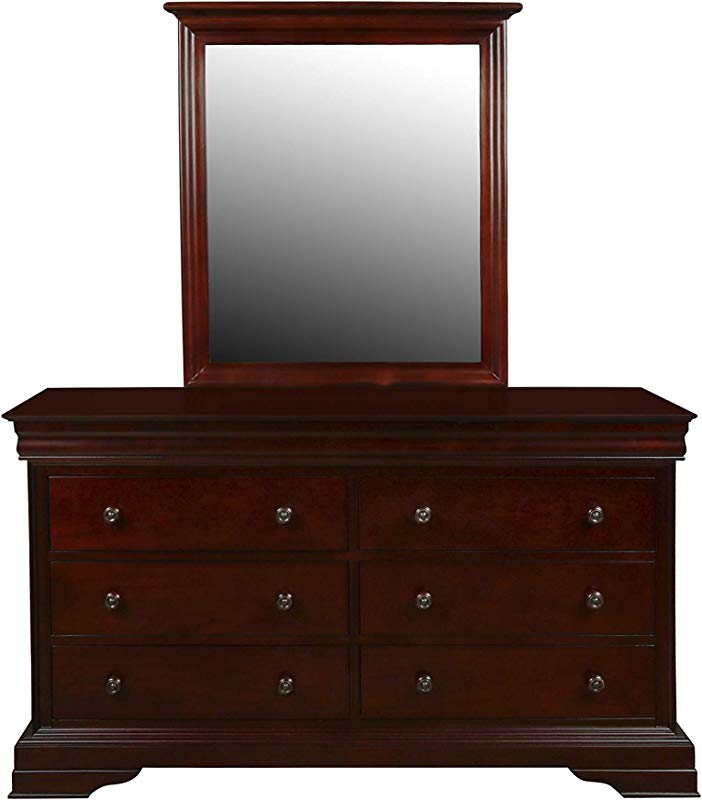 New Classic Furniture 1040 052 Versailles Youth Dresser Bordeaux