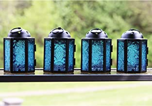 Vela Lanternas estilo marroquino, Azul, Mini