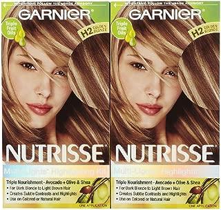 Garnier Nutrisse Nourishing Multi Lights Highlighting Kit, Golden Blonde H2 (Toffee Swirl), 2 pk