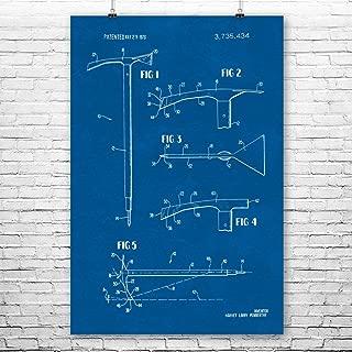 Patent Earth Ice Axe Poster Print, Climber Gift, Climbing Art, Mountaineer Gift, Cabin Wall Art, Adventurer Gift, Ice Climbing Gift Blueprint (18