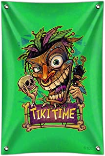 Tiki Time Witch Doctor Tropical Island Home Business Office Sign - Vinyl Banner - 22