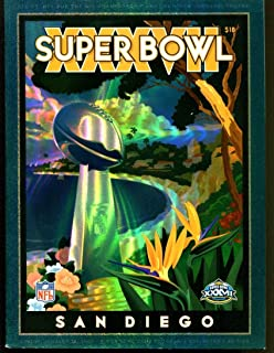 Super Bowl XXXVII 37 Program 1/26/03 Hologram Bucs (48) Raiders (21) NMT 26284