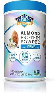 Blue Diamond Almonds Almond Protein Powder, Vanilla - 20g Protein, Plant Based, Vegan, Gluten Free, Non Dairy, Non-GMO, 10...