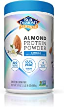 Blue Diamond Almonds Almond Protein Powder, Vanilla - 20g Protein, Plant Based, Vegan, Gluten Free, Non Dairy, Non-GMO, 10...
