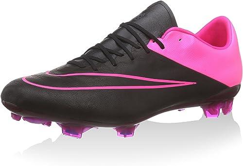 Nike Mercurial Vapor X Leather FG, Stiefel de fútbol para Hombre, schwarz Fucsia, 45.5 EU