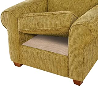 BLS Non-Slip Cushion Underlay Couch Underlay Pad, Keep Your Cushions Stay in The Place for Sofa or Outdoor Furniture, Upgraded Double Sided Anti-Slip Silicone + Felt in The Middle 24 x 24in(1 Pack)