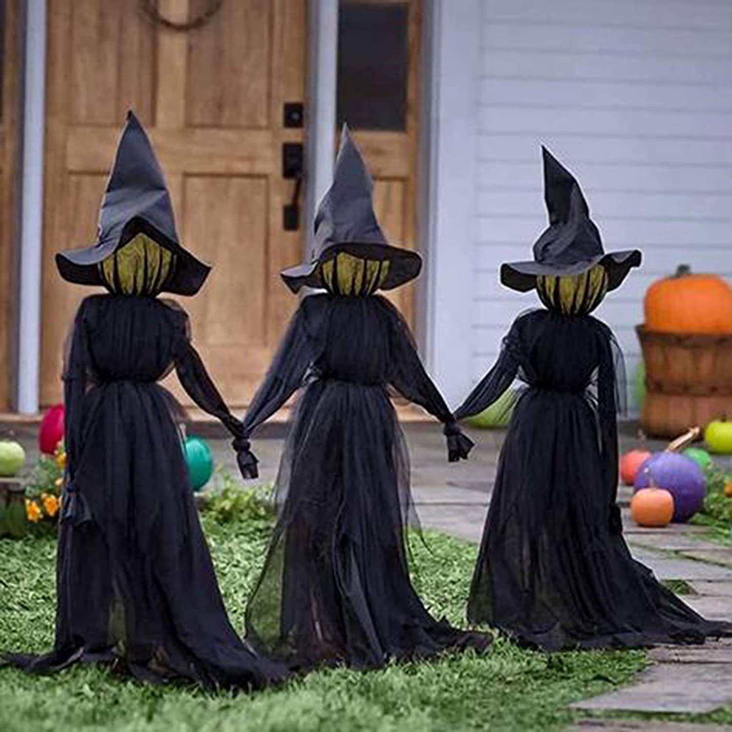 Halloween Holding Hands Witches Superior Glowing Witch with Max 41% OFF Sta Light-UP