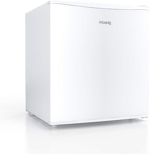 H.Koenig FGX480 Mini Réfrigérateur Frigo à froid statique 46L pose libre Blanc, Classe énergétique A+, Petite taille ...
