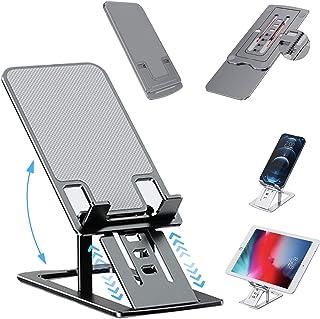 Soporte plegable ajustable para tableta, soporte telescópico para teléfono celular, soporte de escritorio de aluminio, com...