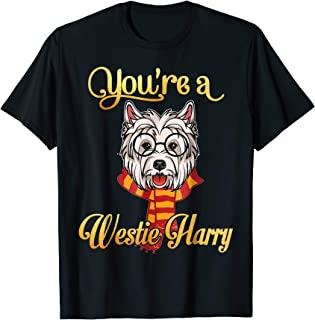 Smile You're A Westie  Harry Dog Potter Glasses Scarf Tshirt