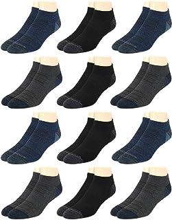 Men's Socks - Low Cut No Show Athletic Performance Ankle...
