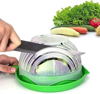 Salad Cutter Bowl Upgraded Easy Salad Maker by WEBSUN, Fast Fruit Vegetable Salad Chopper Bowl Fresh Salad Slicer FDA-Appr...