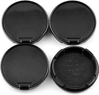 Rhinotuning 56mm/52mm Wheel Center Hub Caps Black ABS for Jetta Vento Bora Golf Bettle Replace #6N0601171 Set of 4