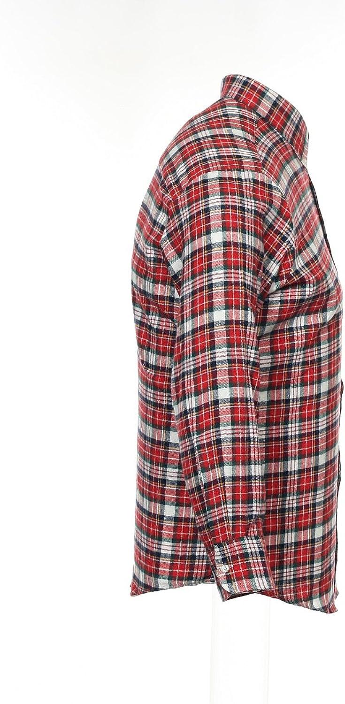 John Ashford JA Men's Red Plaid Button Down Shirt