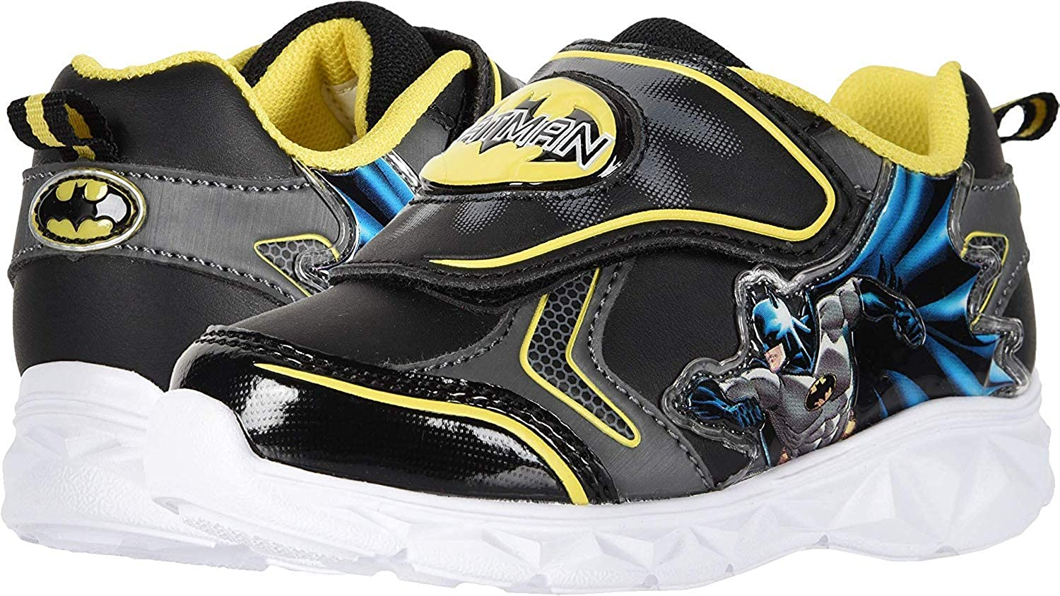 Favorite Characters - Batman Lighted Athletic shoes (Toddler Little Kid) Black Yellow