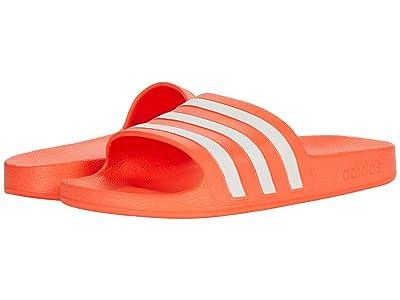 adidas Adilette Aqua Slides (Solar Red/White/Solar Red) Women