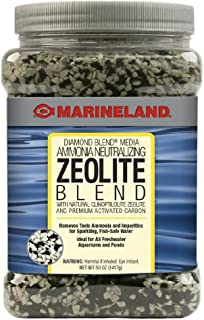 Marineland Diamond Blend 50 Ounces, Ammonia-Neutralizing Zeolite And Carbon, aquarium Filter Media