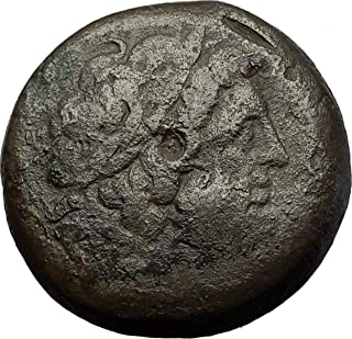 266 GR Ptolemy II Philadelphos 266BC Zeus Alexandria Egy coin Good