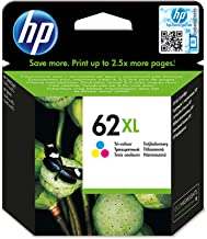 HP C2P07AE 62XL High Yield Original Ink Cartridge, Tri-color, Single Pack