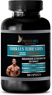 libido for Men Sexual - TRIBULUS TERRESTRIS 45% STEROIDAL SAPONINS 1000MG - Maximum Strength Extract - tribulus Extract - ...