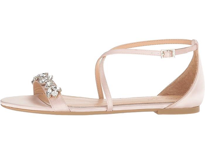 Badgley Mischka Womens Tessy Flat Sandal
