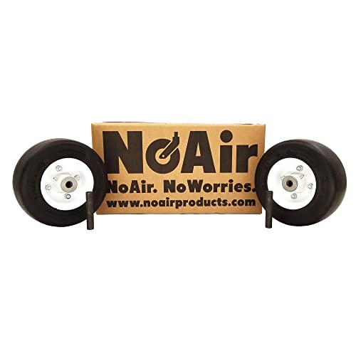 noair (2) walker flat free tire assm 8x3 00-4 replaces 8715