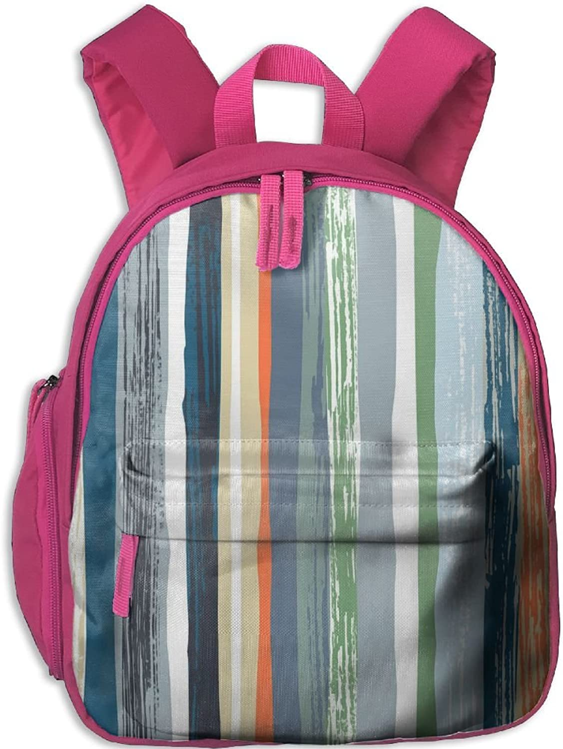 School Bag Retro Watercolor Stripe(9562) With Durable Travel Camping Backpack For Boys And Girls
