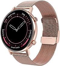 Smart Horloge voor Mannen Vrouwen 1.3 Inch HD Ronde Kleur Screen Activity Tracker Bluetooth 5.0 Fitness Sport Smart Horlog...