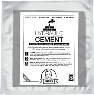 Hydraulic Cement for Concrete & Masonry Leaks - Repair Pools, Spas, Fountains or Other Water Issues (1 lb Bag)