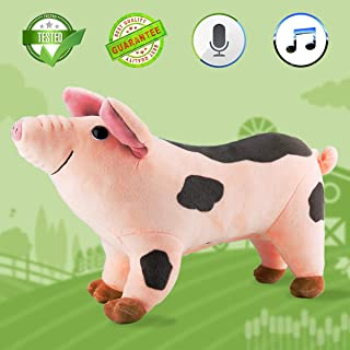 Plush Pig 11'' Musical Toys Singing and Talking Stuffed Animal Animated Interactive Toy Oink Oink Pig (Oink Oink Pig)