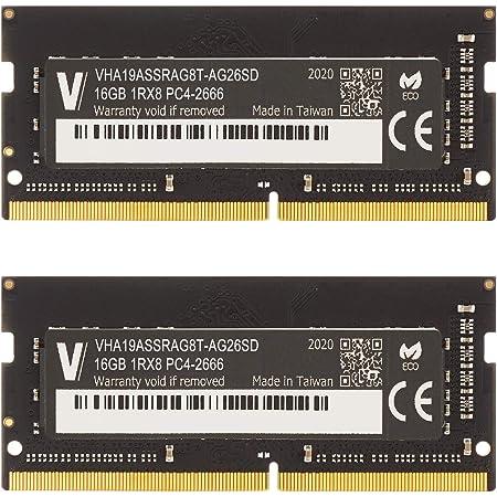 v-color Hynix IC ノートPC用メモリ DDR4 2666MHz PC4-21300 32GB (16GB×2枚) SO-DIMM 2Gx8 1.2V CL19 iMac対応 TN416G26D819K-VC