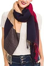 Scarf for Women Checked Plaid Reversible Soft Cashmere Feel Elegant Shawl Wrap