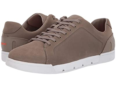 SWIMS Breeze Tennis Leather (Timber Wolf/White) Men