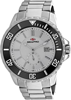 Seapro Men's Force Automatic Stainless Steel Strap, Silver, 24 Casual Watch (Model: SP0510)