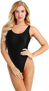 f56849295a iiniim Women s Sheer High Cut Backless See-Through Leotard Thong Bodysuit  Lingerie